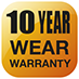 10 Year Wear Warranty