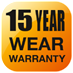 15 Year Wear Warranty